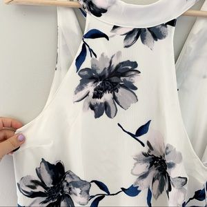 nwt lulus | floral high neck tank top
